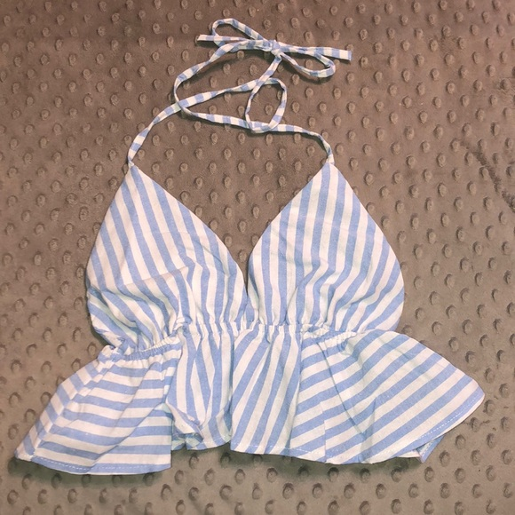 SHEIN Tops - NEVER WORN Striped Halter Top